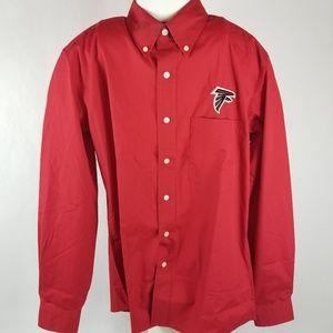 Antigua Atlanta Falcons long sleeve button down